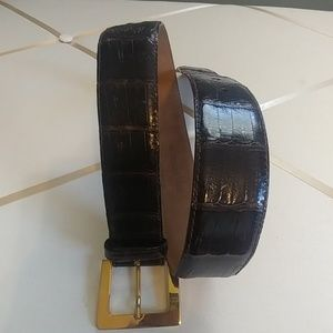 Other - Genuine Crocodile Skin Belt Made in Italy